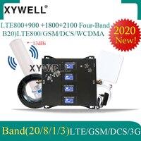 2020 جديد! مكبر صوت خلوي B20 800 900 1800 2100mhz رباعي الموجات gsm مكرر 2g 3g 4g موبايل إشارة معززة LTE GSM WCDMA DCS