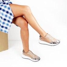 Moxee נשים סניקרס Crocodil מפורט נשים נעליים יומיומיות מאוד נוח אופנה נעלי רך Famele נעל