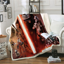 Anime Movie Star Wars Printed Plush Throw Blanket Sherpa Fleece Bedspread Sofa Blankets For Beds Square Picnic Soft Blanket(China)
