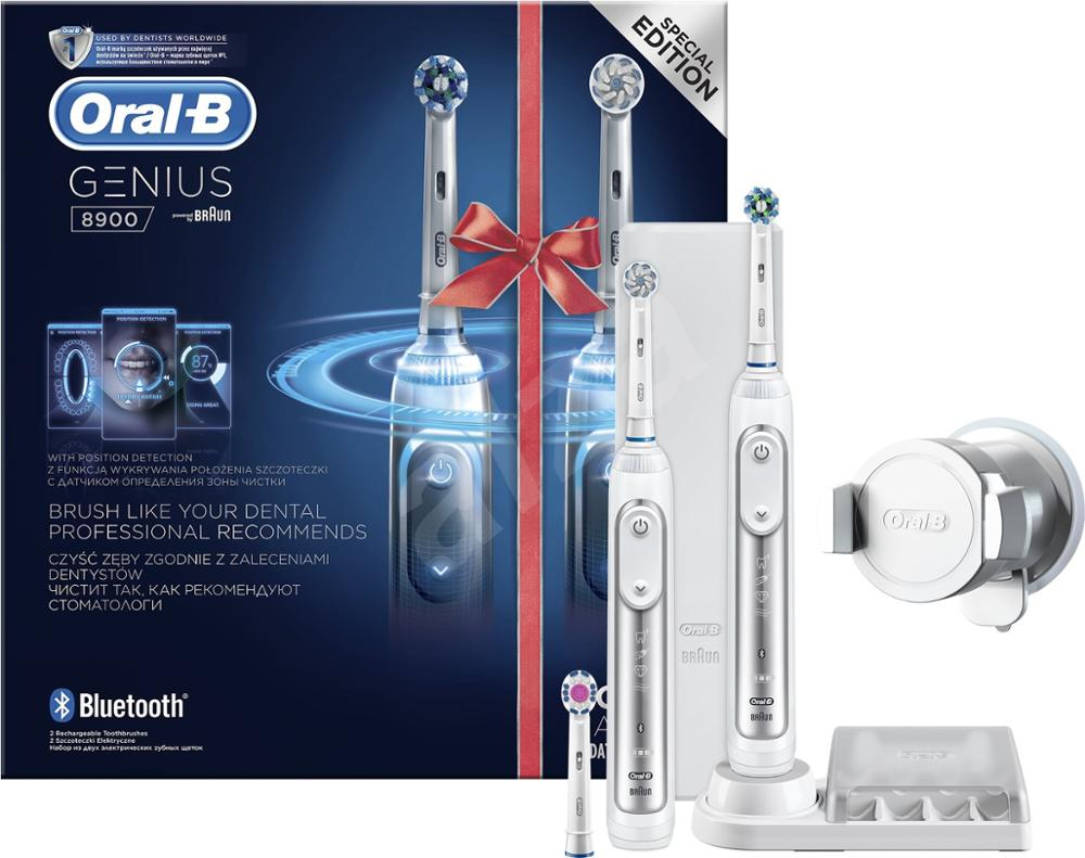 Oral-B Genius Pro 8900 Electric Toothbrush Braun Two Handle Pack with Bluetooth image