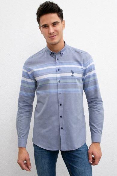 U.S. POLO ASSN. Slim Blue Shirt