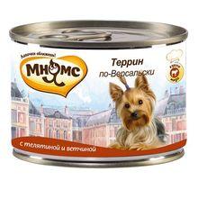 Корм для собак МНЯМС Pro pet Террин по-Версальски, телятина, ветчина конс. 200г