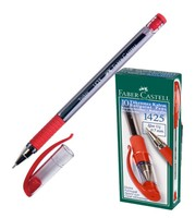Faber Castell 1425 Ballpoint Pen 10'Lu Package Red Ballpoint Pens Education & Office Supplies -