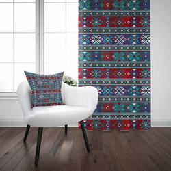 Еще зеленый красный аутентичный турецкий, османский винтажный 3D принт гостиная спальня окно панель занавес комбинированный подарок наволо...