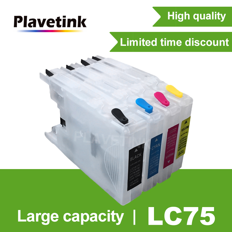 Plavetink Refill <font><b>Ink</b></font> <font><b>Cartridge</b></font> For Brother LC 12 <font><b>40</b></font> 71 73 75 400 1220 1240XL MFC J960DWN-B J960DWN-W J432W J430W J6910DW J6710DW image
