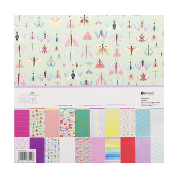 CRZCrafter 12 Inch Scrapbooking Papers 20 Sheets Craft Background Decorative Pattern Paper Designer Pack DIY 305x305mm Acid Free 1