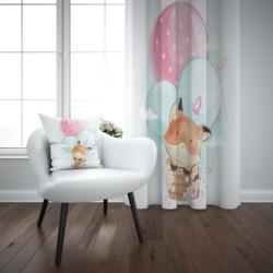 Else/милый комплект с изображением лисы в воздушных шариках, животных, с 3d принтом, для детей, малышей, детей, оконная панель, занавеска, комбин...