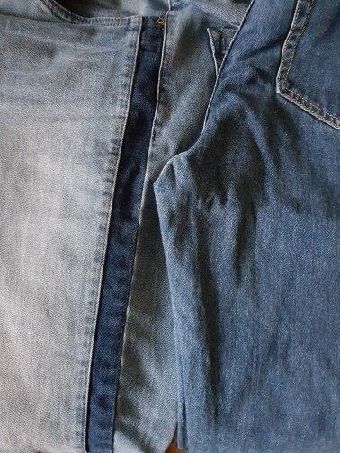 Jeans Soft Pants Harem Jeans Female Straight All Match Basic High Waist Jeans Femme Long Denim Pants For Women photo review