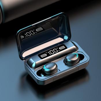 F9 TWS bezprzewodowe słuchawki Bluetooth 5 0 słuchawki słuchawki z redukcją hałasu słuchawki stereo Bluetooth zestaw słuchawkowy do telefonu komórkowego tanie i dobre opinie ToHayie Prawda bezprzewodowe wireless Dynamiczny Apt-X F9 Mini TWS Wireless Earphone 32Ω 20-20000Hz Do Internetu Bar Monitor Słuchawkowe