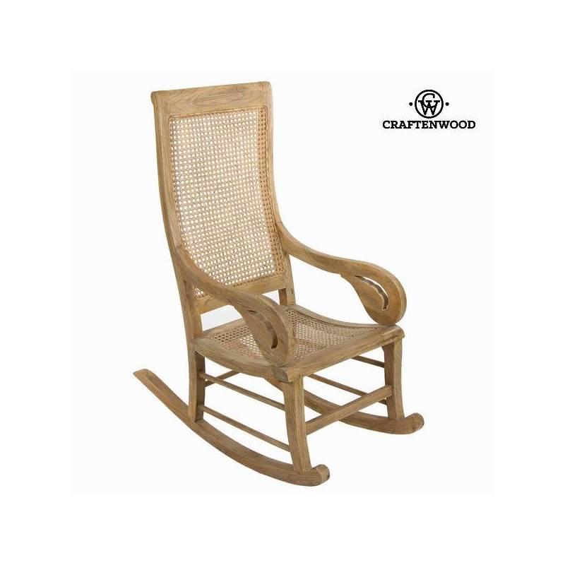 Rocking Chair Teak Wood (55x110x113 Cm) By Craftenwood