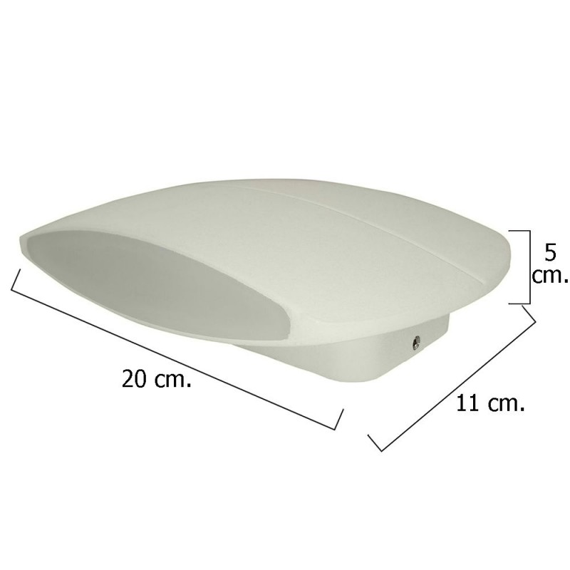 Led ceiling IP54 9 Watt./520 Lumens. Flat aluminum White 20 cm.|Wall Lamps| |  - title=