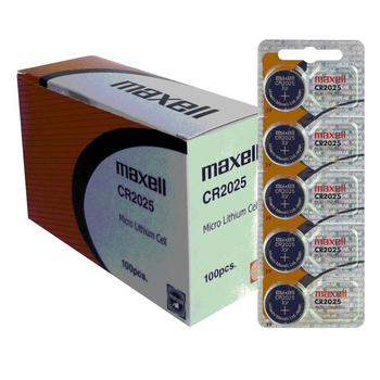 Buttons Batteries Maxell CR2025 Lithium Battery Original NEW 3V Blister 5X Units
