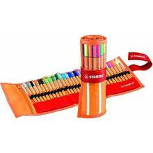 Stabilo Point 88 Art markery 0.4mm fibre Pen 10-25-30 kolorów typ igły Fineliner Manga Design szkicowanie, rysunek