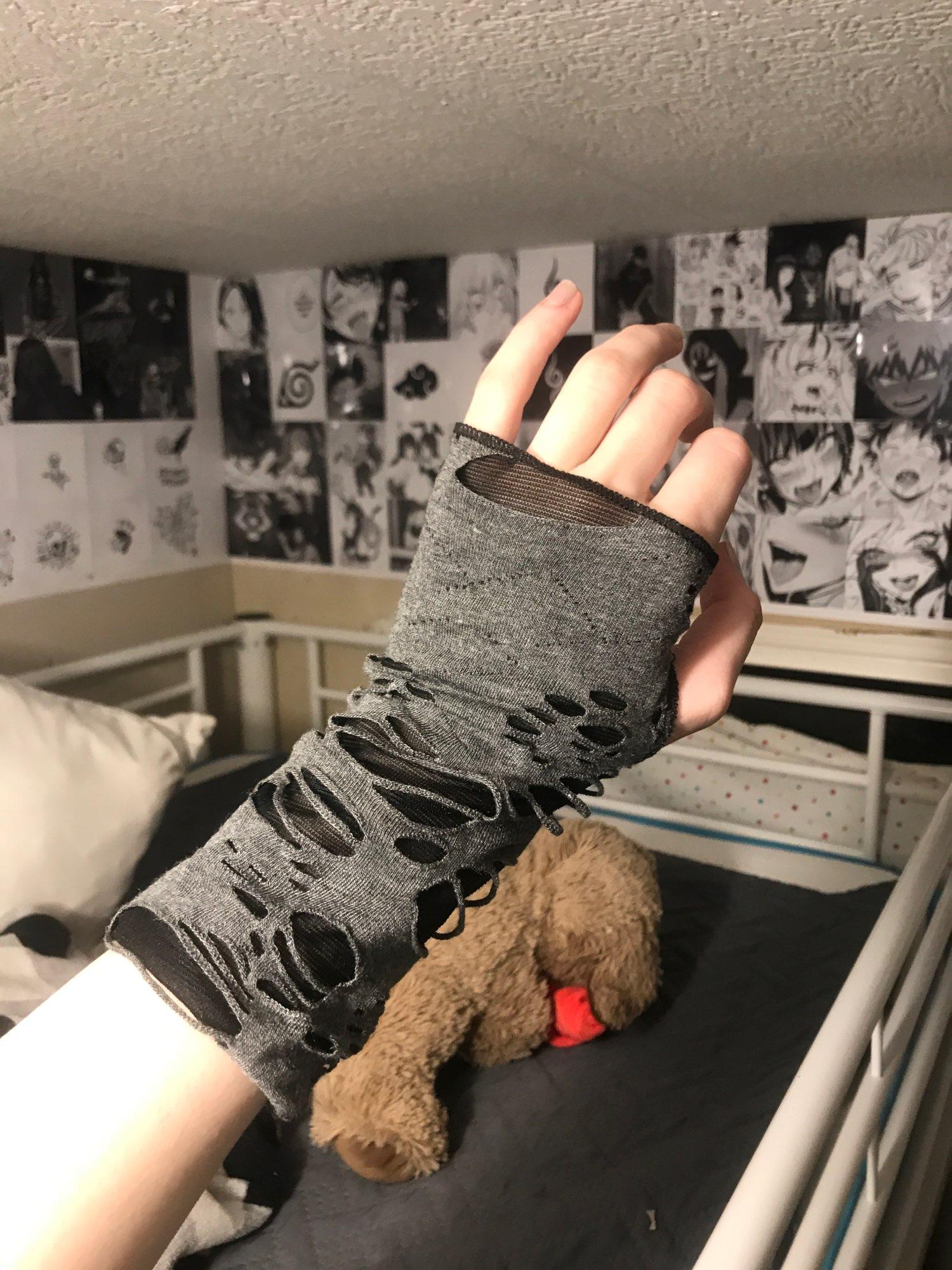 Punk / Grunge Fingerless Mitten photo review