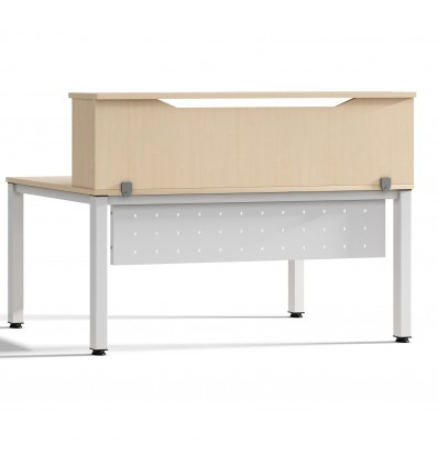 MODULE RECEPTION LOFT 200cm BEECH/BEECH DIMENSIONS 200x40x30cm (Table Not Included In The Price, You Buy Separately)