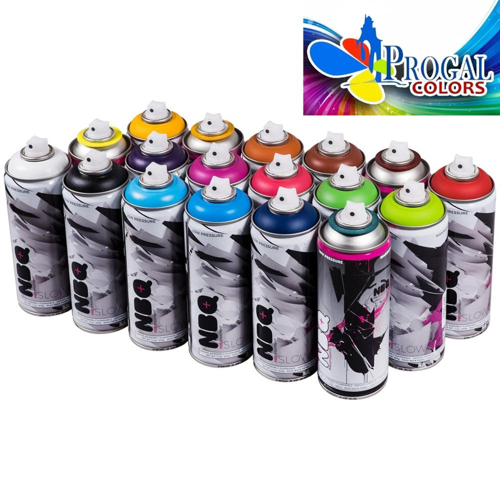 NBQ PRO Juego De 18 Paint Cans 400ml Matte Colors Segun Photo Special For Graffiti Painting And Art Mural