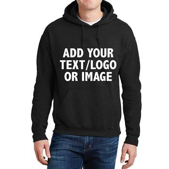 Digital Printing Custom Hoodies Mens Logo Text Hoodie for Men Women Personalized Custom Sweatshirt Customization Sweatshirts 1