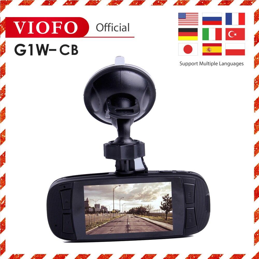 VIOFO Original G1W-CB Car Dash Camera car accessories black box Upgraded HD 1080P Video Super Capacitor multi-language