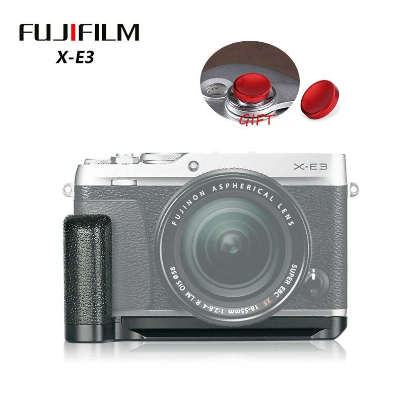 Meike MK XE3G Metal Hand Grip Handle Quick Release L Plate Holder for Fuji Fujifilm X E3 XE3|Battery Grips| |  - title=