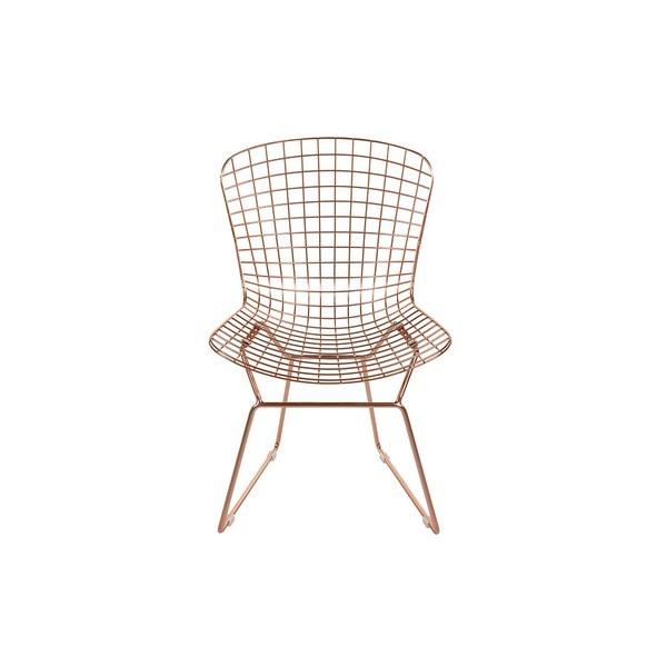 Dining Chair Metalic Curve (53 X 83 X 59 Cm)