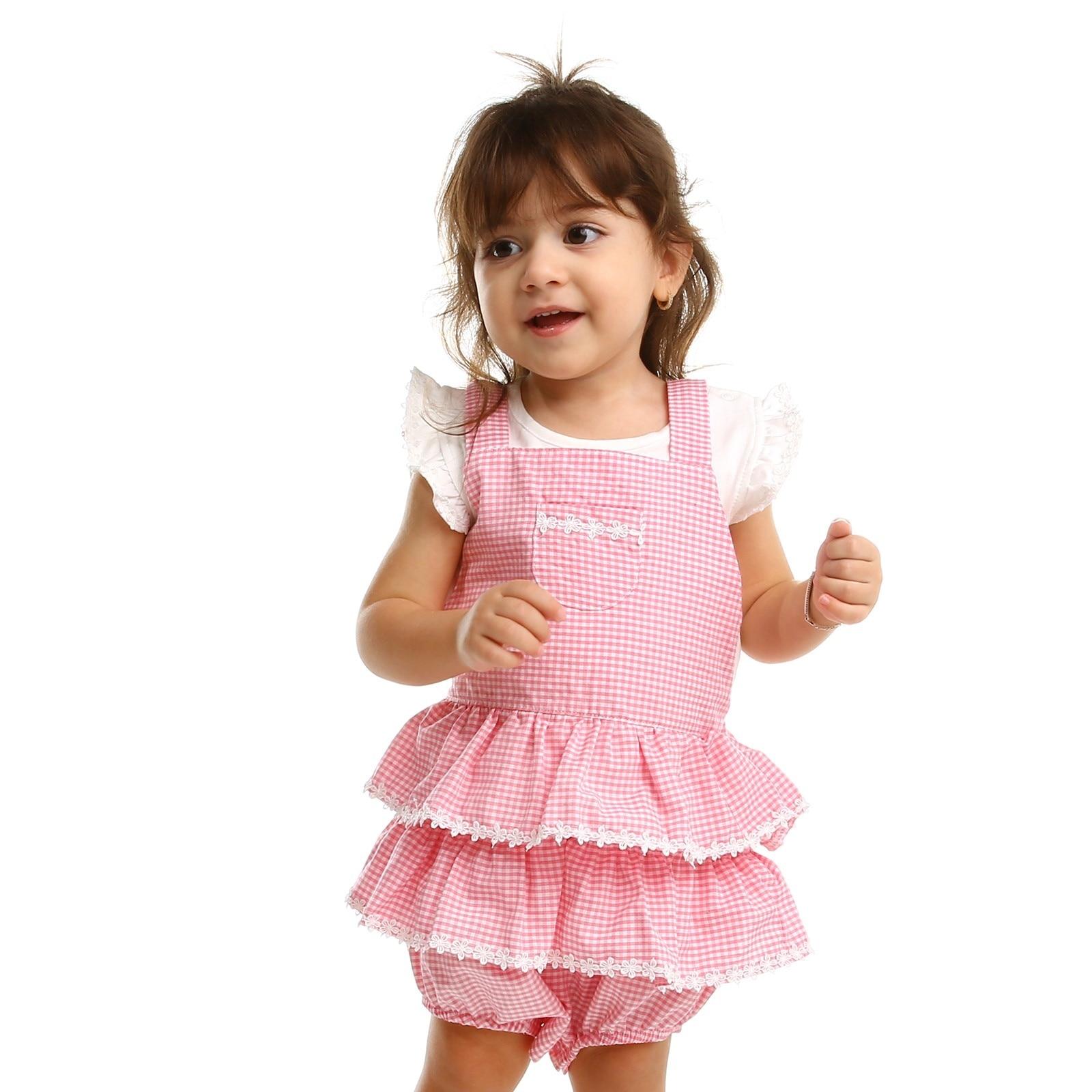 Ebebek Bestido Summer Baby Girl Supreme Short Sleeve Dungarees