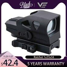 Óptica vectorial de trinquete GEN II 1x23x34 x retícula verde Vista de punto rojo con QD 20mm Weaver montaje para querida caza tiro
