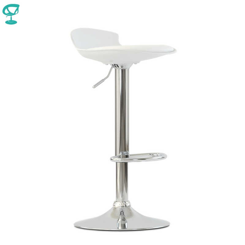 95633 Barneo N-264 High Plastic Kitchen Breakfast Bar Stool Swivel Bar Chair White Color Free Shipping In Russia