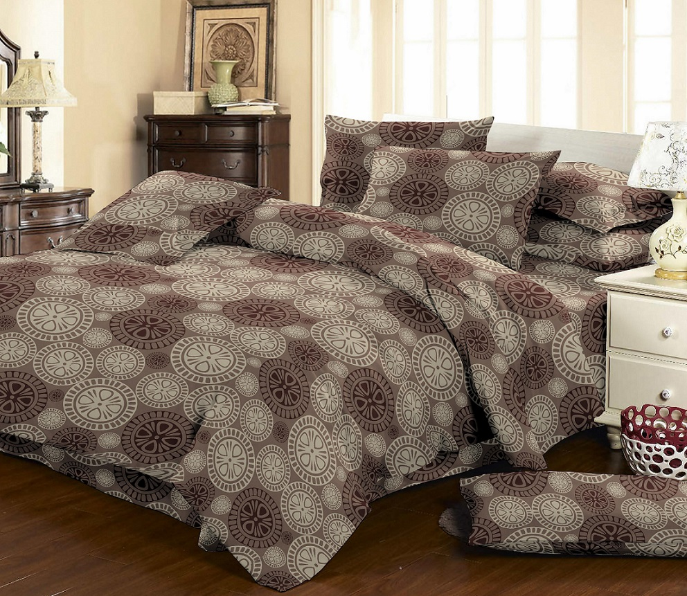 Bedding Set Double-euro Amore Mio, Biscuit