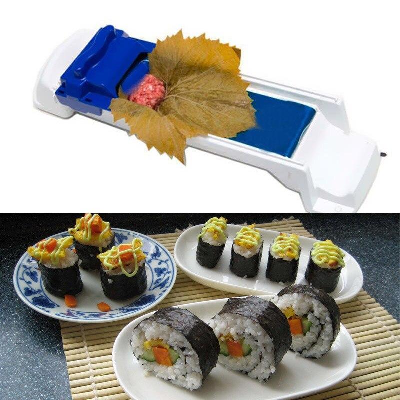 Суши производитель для дропшиппинг кухня форма для создания роллов, суши машина для приготовления пищи с капустным листом мясо прокатки DIY рисовый ролик производитель плесень