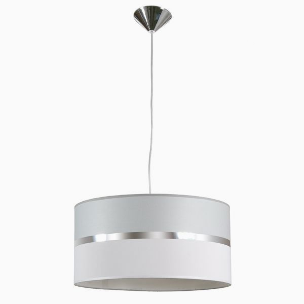 Ceiling Light Grey Cotton And Polyester (40 X 20 Cm)