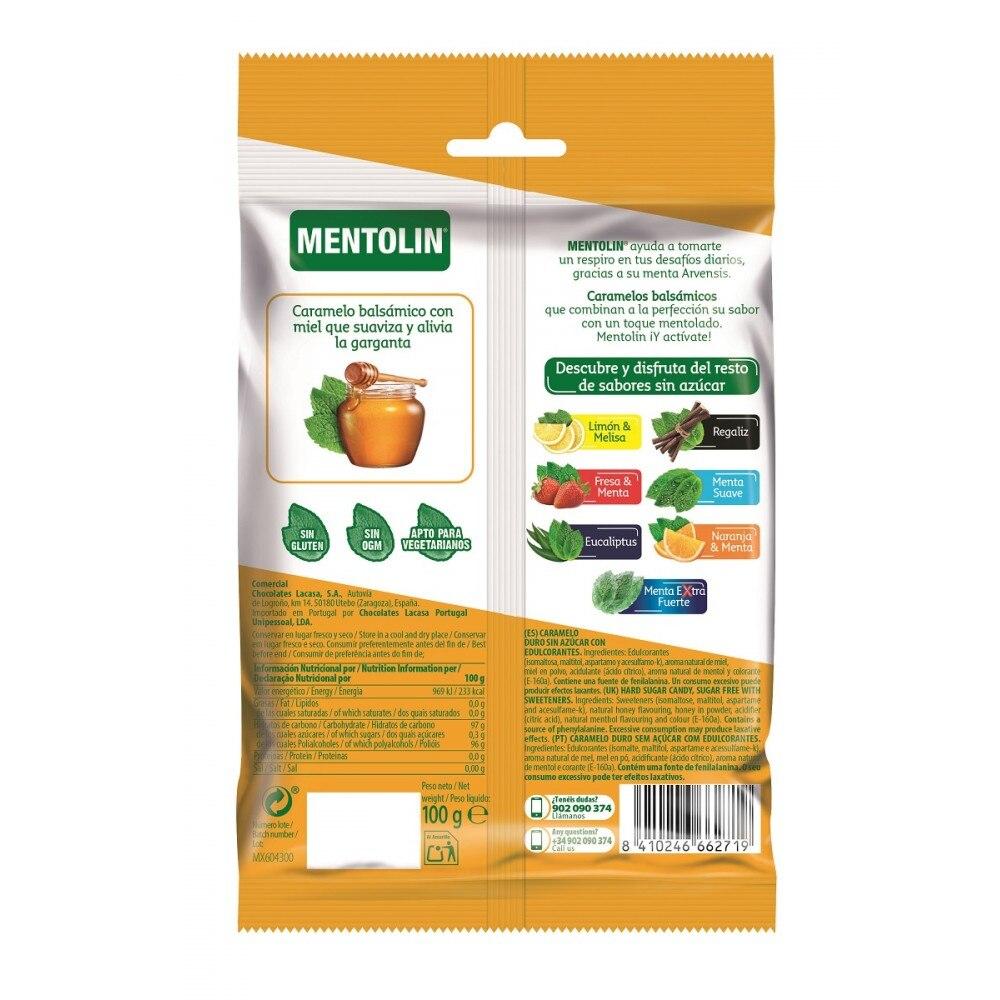 Mentholin Honey & menthol without sugar · 100g.