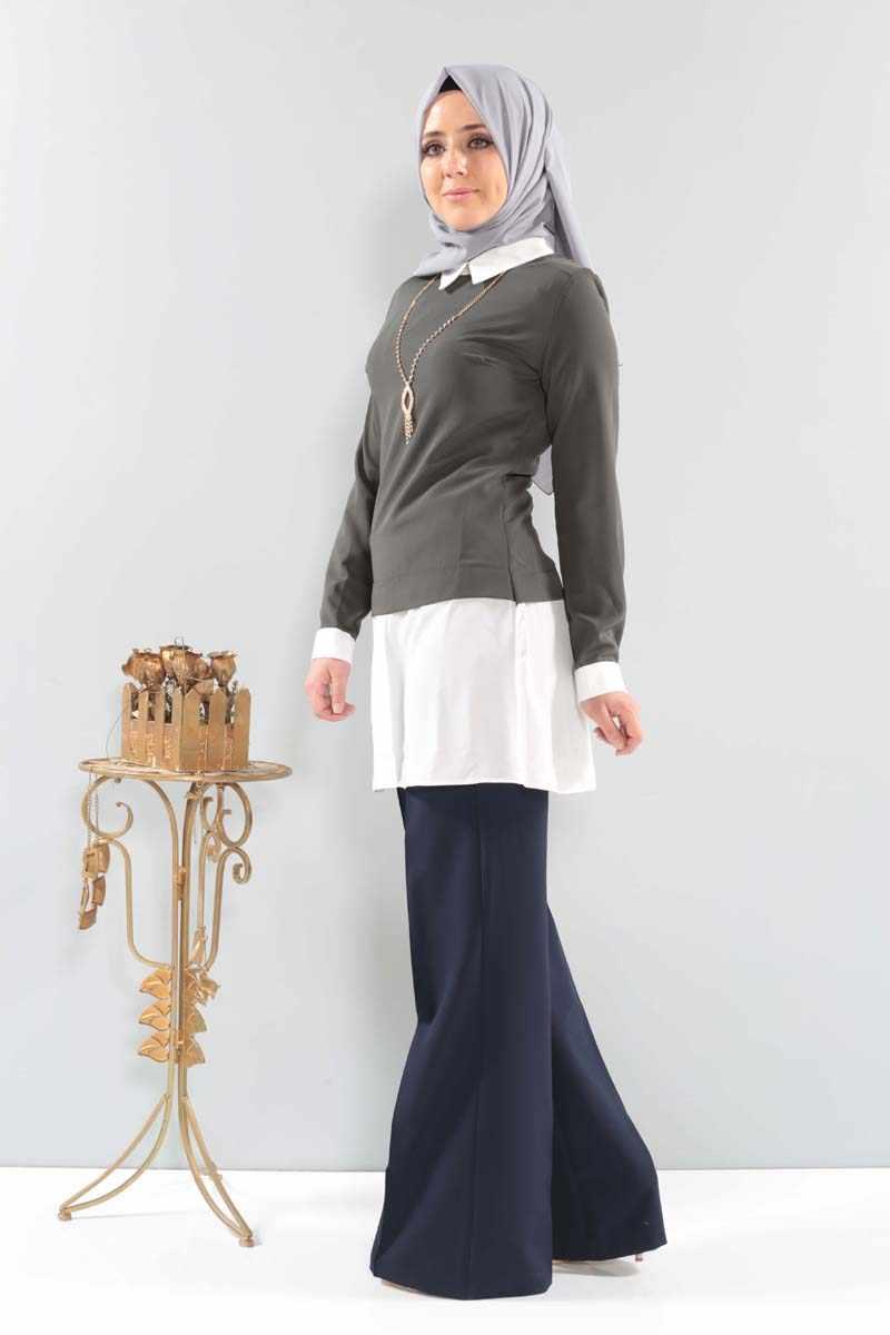 Collana Camicia Tunica PWR2553 Khaki