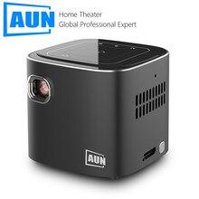 AUN Новый мини проектор D019, Android 7,1 (1 Гб + 16 Гб) 2,4G/5G WI-FI BT4.0, 120 дюйма Портативный светодиодный проектор для 3D 1080P проектор для домашнего Кино