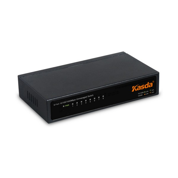Desktop Switch Kasda KS1008 10/100/1000 Black