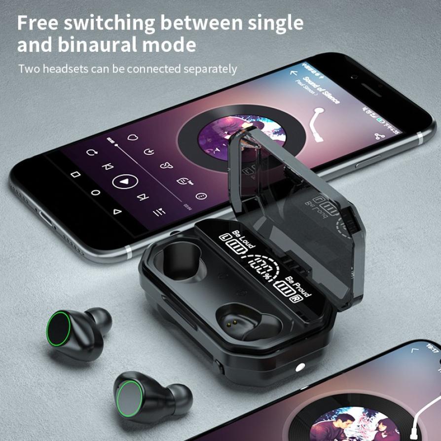 lowest price 3500mAh LED Bluetooth V5 1 Wireless Earphones Earbuds TWS Touch Control Sport Headset Noise Cancel Earphone Headphone PK M11 M12