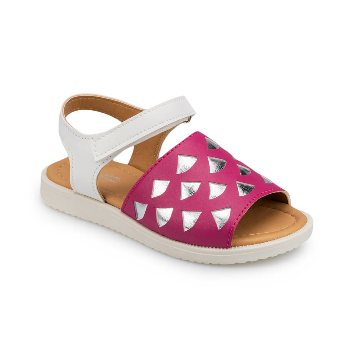 FLO 91.511184.P Fuchsia Girls Child Sandals Polaris