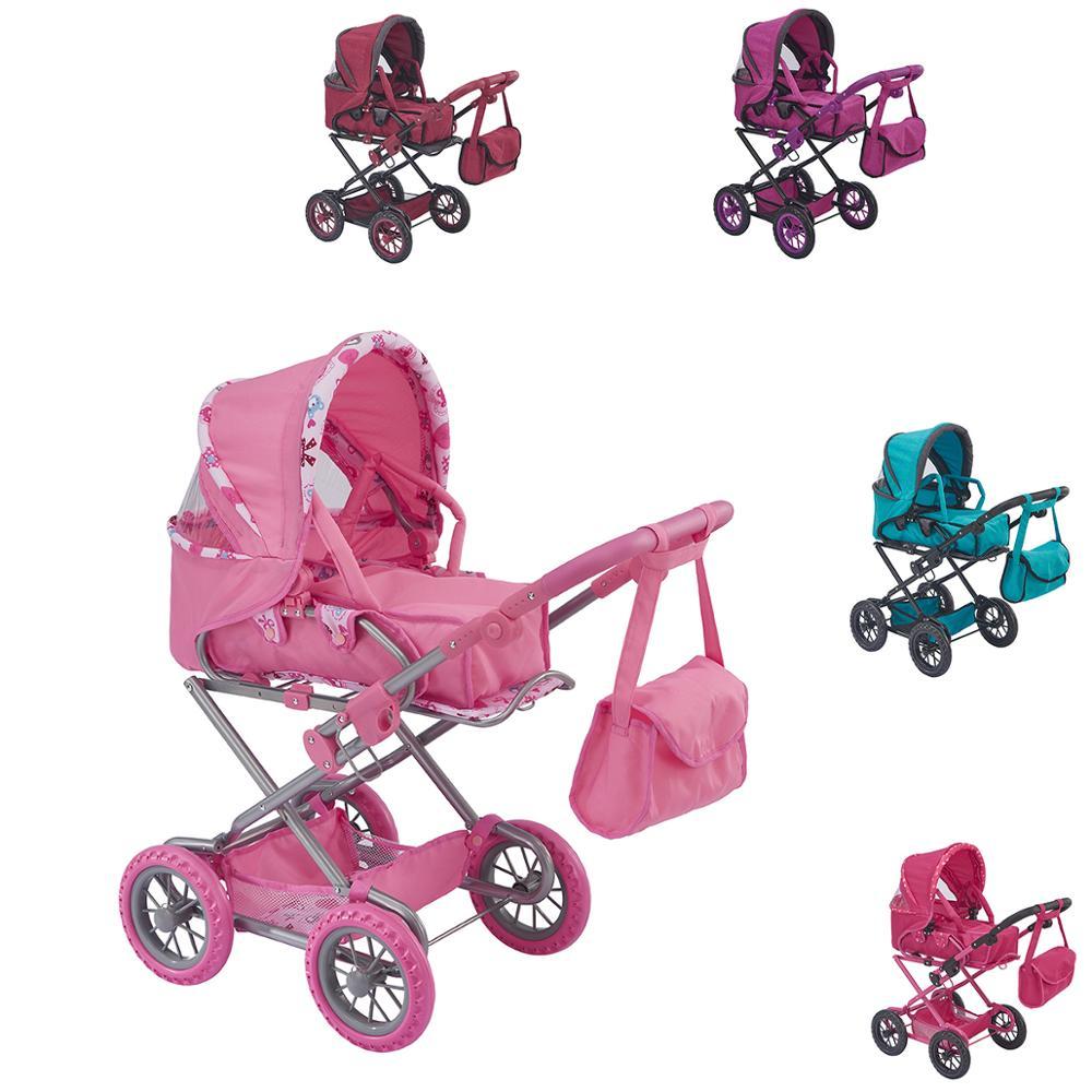 Poussette de poupée-jouets pour enfants-meubles de poupée-maison de poupée-jouet éducatif 2 en 1 & BUGGY BOOM Infinia Collection.