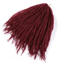 18 #8243 Jumbo Crochet Braids Hair Ombre Afro Kinky Curly Synthetic Marley Braiding Hair Crochet Hair Extensions Bulk cheap Youngther High Temperature Fiber CN(Origin) Marley Braids 20strands pack