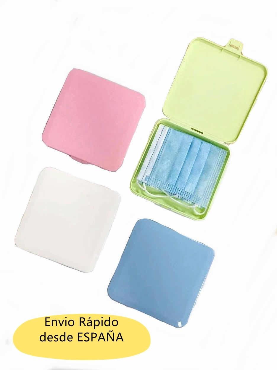Estuche,funda,caja de almacenamiento excelente para mantener las mascarillas libres de polvo y suciedad, material resistentes