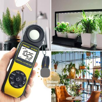 цена на BTMETER Digital Lux Meter,Light Meter,Measure 0.01~400,000 Lux and Temperature with 270º Rotated Sensor for Plants
