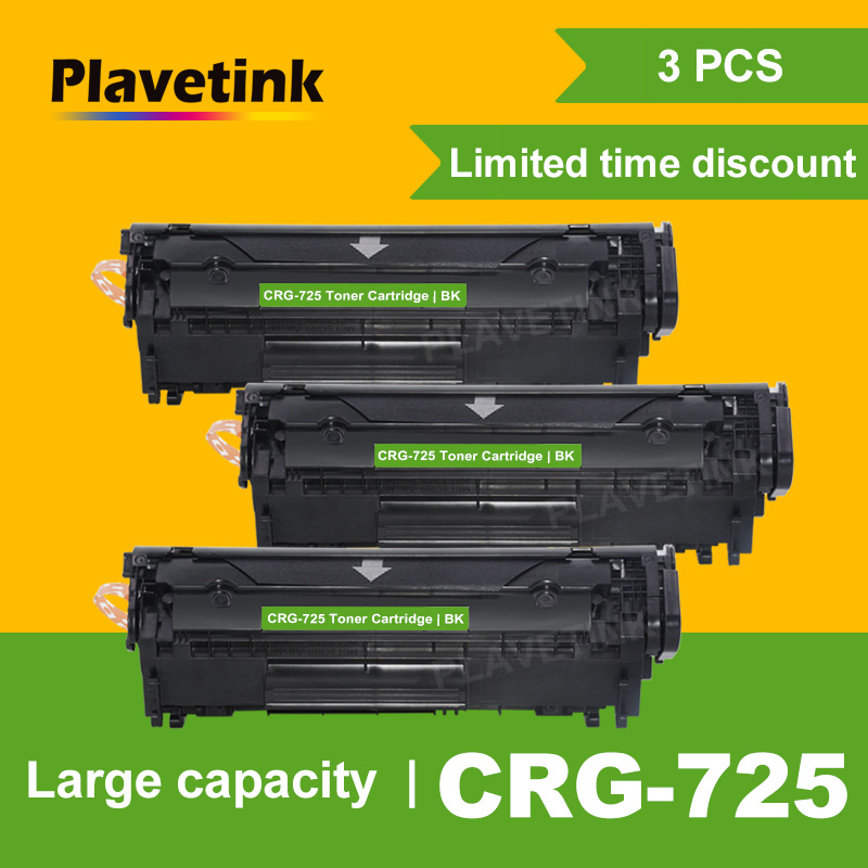 Plavetink 3PCS CRG 725 CRG-725 Laser Compatible Toner Cartridges for <font><b>Canon</b></font> Image CLASS <font><b>LBP6000</b></font> LBP6018WL LBP6030w MF3010 Printer image
