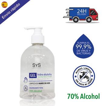 GEL HIDROALCOHOLICO hands 500 ML/ 70% ALCOHOL sanitizer sanitary-ANTISEPTICO-cleaning hands-on ALCOHOL-hygiene hands