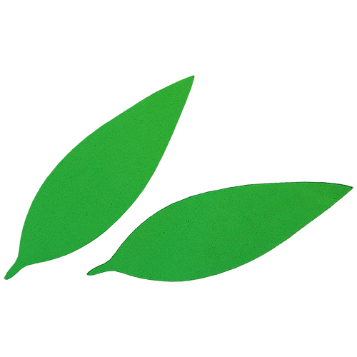 Фом9-1-1 Workpiece From Foamiran 'sheet вытянутый', 10x3 Cm, 10 PCs, Green
