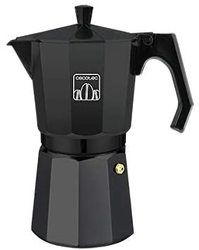 Cecotec Italian espresso maker Mimoka 600 Black manufactured cast aluminum high quality coffee making with the best body.