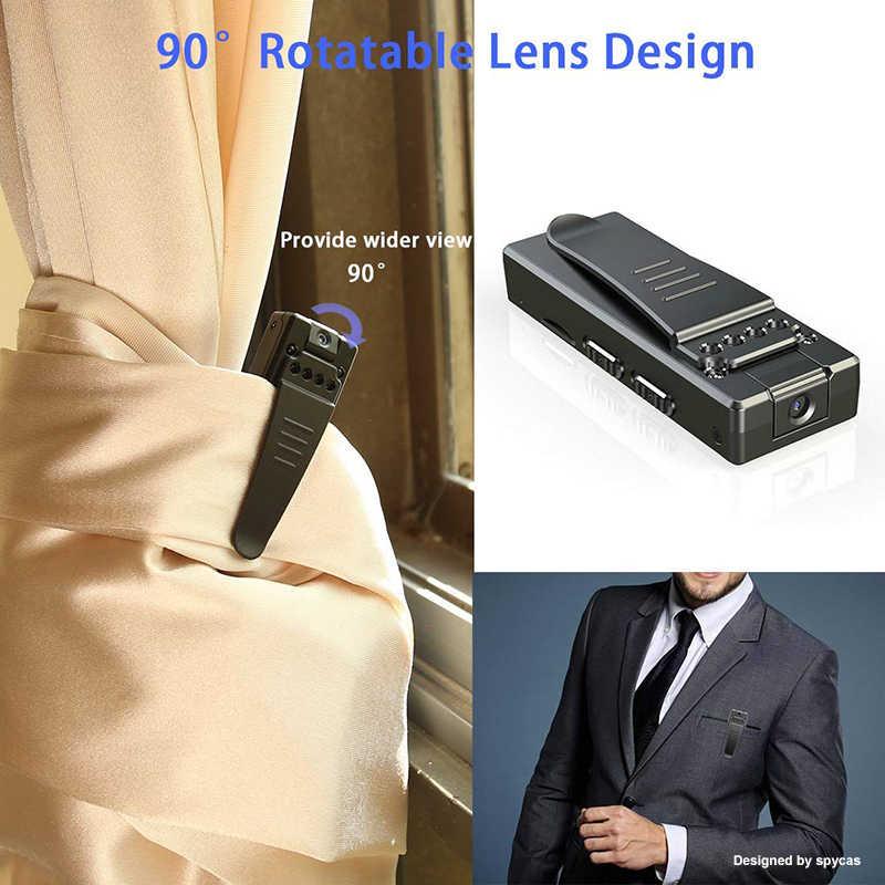 Mini cámara HD 1080P DV portátil, cámara de cuerpo cubierto HD con visión nocturna y detección de movimiento para interiores y exteriores, pequeña cámara de seguridad