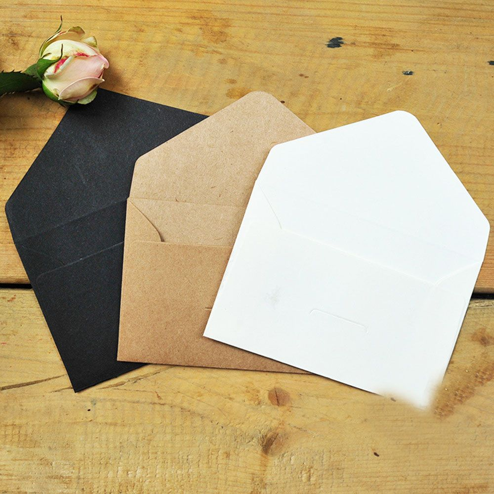 20pcs/lot Black White Craft Paper Envelopes Vintage European Style Envelope For Card Scrapbooking Gift Stationery For Letter
