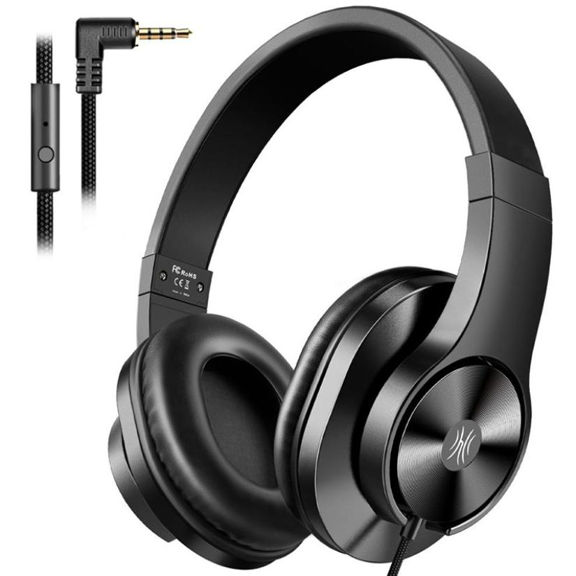Wired Headphones Hi-Fi Bass Sound Music <font><b>Gaming</b></font> Headset Portable 3.5mm <font><b>Earphone</b></font> <font><b>with</b></font> <font><b>Microphone</b></font> For Android IOS PC PS4 Smartphone image