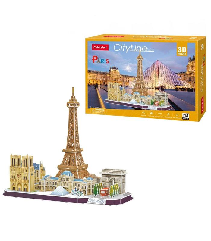 3d Puzzle Skyline Paris Toy Store