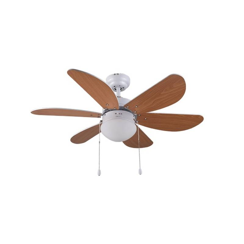 Ceiling Fan With Light Cecotec ForceSilence Aero 360 50W Brown (Ø 91 Cm)