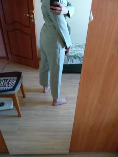 Autumn Winter  Women Lace Up Pant Suit Notched Blazer Jacket & Pant Office Wear Suits Female Sets reviews №2 115325